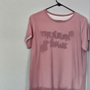 Tee shirt with mesh over lay